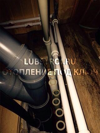 Монтаж системы отопления и водоснабжения в г. Электроугли