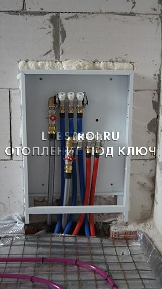 Монтаж системы отопления / Сельцо КП Солнечный берег